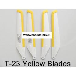 "MJX T23-02 Main Blade Yellow ""  Pale Rotore Giallle  "" di ricambio"