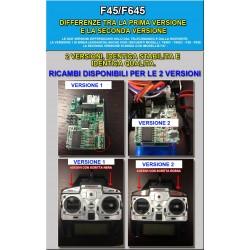 Elicottero F45  F645 4 Canali, 2,4 Ghz con MOTORE BRUSHLESS, con Giroscopio, Telecamera Inclusa + 2' BATTERIA da 2000 mAh