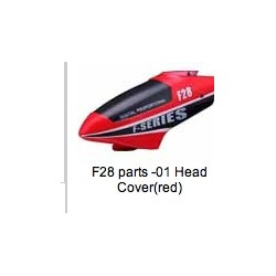 MJX F28 parts Canopy   Head Cover  (red)