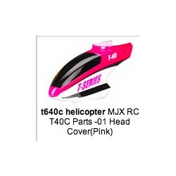 MJX T40C-01 Head Cover Nose Canopy (Pink)