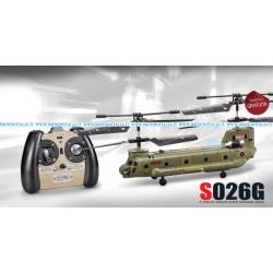 Syma S026 Elicottero 3 canali CH47 Chinook Spedizione Gratis