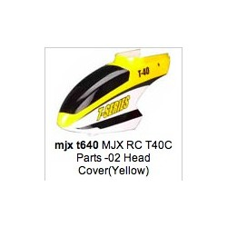 MJX T40C-02 Head Cover nose canopy (Yellow)