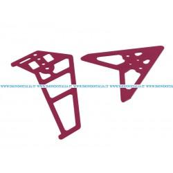 """G/S Hobby  GS240-03 Tail Decoration """" Decorazione di Coda Rossa """"  di Ricambio"""