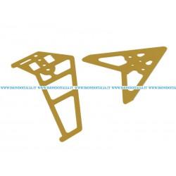 """G/S Hobby  GS240-03G Tail Decoration """" Decorazione di Coda Oro """"  di Ricambio"""