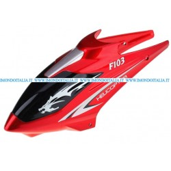 F103-01 Canopy (Red),  Rc Helicopter, Elicottero Rc,  Ricambi