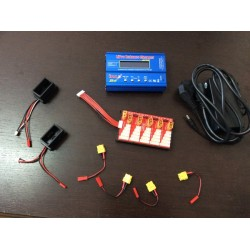KIT CARICABATTERIE FINO A  3 BATTERIE BUGS 5, B5W, IMAX B6, Carica/Scarica/Storage, 1-6 Cells, SPARE PARTS, RICAMBI