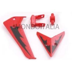 Decorazione Coda di Ricambio per Syma S107 Rosso