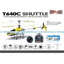 SPEDIZIONE GRATUITA - Elicottero T640C - 3 Canali, 2,4 Ghz con Telecamera HD
