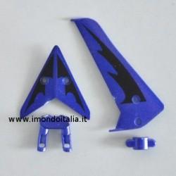 """S107 / S107G  Tail Decoration """" Decorazione di coda di Ricambio """" Syma Blu"""