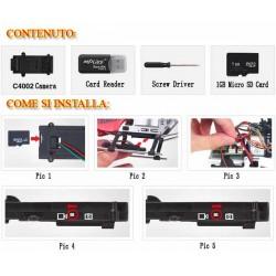 MJX Kit Completo di Telecamera in HD Micro SD 1Gb Chiavetta USB